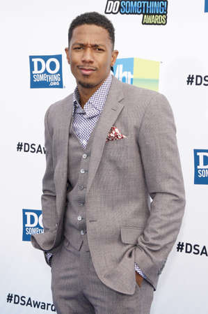 barker: Nick Cannon at the 2012 Do Something Awards held at the Barker Hangar in Santa Monica on August 19, 2012.
