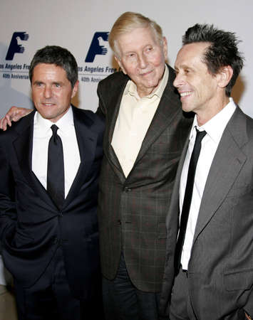 redstone: BEVERLY HILLS, CA - NOVEMBER 20, 2006: Brian Grazer, Brad Grey and Sumner Redstone at the 2006 Los Angeles Free Clinic Annual Dinner Gala held at the Beverly Hilton Hotel in Beverly Hills, USA on November 20, 2006.