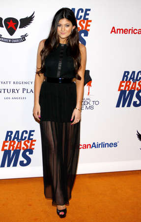 premieres: Kylie Jenner at the 19th Annual Race To Erase MS held at the Hyatt Regency Century Plaza in Century City, USA on May 18, 2012.