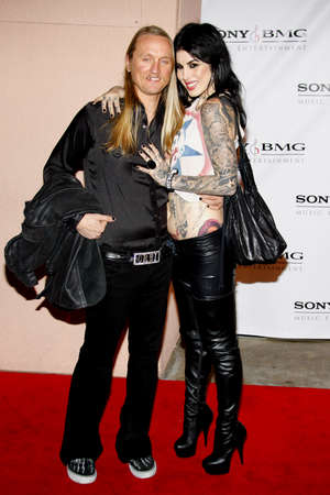 after the party: Alec Orbi Orbison and Kat Von D at the 2008 SonyBMG Grammy After Party held at the Beverly Hills Hotel in Beverly Hills on February 10, 2008.