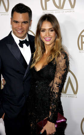 guild: Jessica Alba and Cash Warren at the 24th Annual Producers Guild Awards held at the Beverly Hilton Hotel in Beverly Hills, USA on January 26, 2013. Editorial