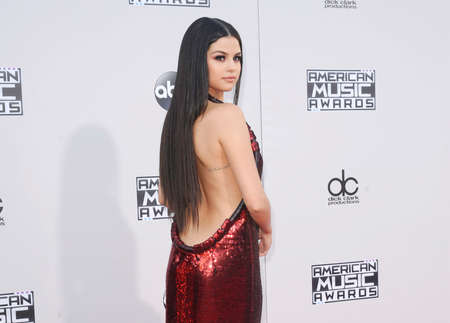 Selena Gomez at the 2015 American Music Awards held at the Microsoft Theater in Los Angeles, USA on November 22, 2015. Editorial