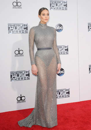 american music: Hannah Davis at the 2015 American Music Awards held at the Microsoft Theater in Los Angeles, USA on November 22, 2015. Editorial