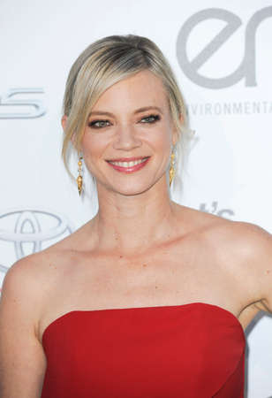ema: BURBANK, CA, USA - OCTOBER 24, 2015: Amy Smart at the 2015 EMA Awards held at the Warner Bros. Studios in Burbank, USA on October 24, 2015.