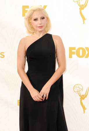 gaga: LOS ANGELES, CA - SEPTEMBER 20, 2015: Lady Gaga at the 67th Annual Primetime Emmy Awards held at the Microsoft Theater in Los Angeles, USA on September 20, 2015.
