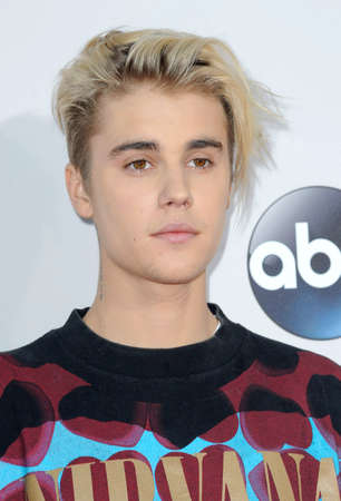 Justin Bieber at the 2015 American Music Awards held at the Microsoft Theater in Los Angeles, USA on November 22, 2015.