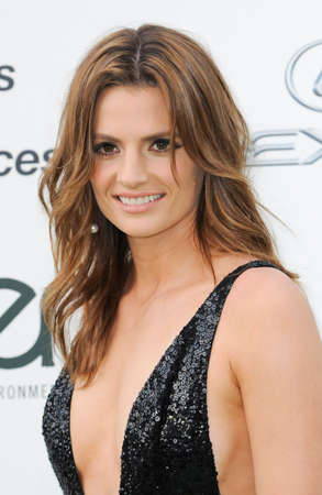 burbank: BURBANK, CA, USA - OCTOBER 24, 2015: Stana Katic at the 2015 EMA Awards held at the Warner Bros. Studios in Burbank, USA on October 24, 2015.