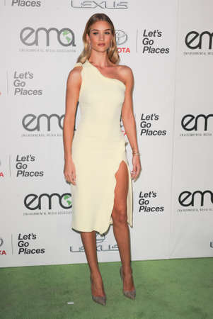 ema: BURBANK, CA, USA - OCTOBER 24, 2015: Rosie Huntington-Whiteley at the 2015 EMA Awards held at the Warner Bros. Studios in Burbank, USA on October 24, 2015.