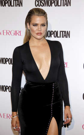 west hollywood: Khloe Kardashian at the Cosmopolitans 50th Birthday Celebration held at the Ysabel in West Hollywood, USA on October 12, 2015. Editorial