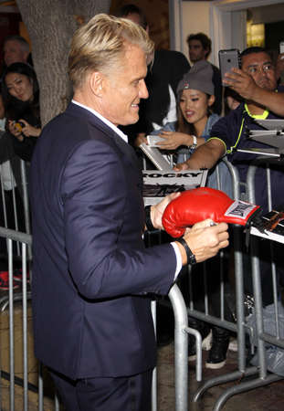 creed: Dolph Lundgren at the Los Angeles premiere of Creed held at the Regency Village Theatre in Westwood, USA on November 19, 2015.