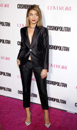 west hollywood: Sarah Hyland at the Cosmopolitans 50th Birthday Celebration held at the Ysabel in West Hollywood, USA on October 12, 2015. Editorial