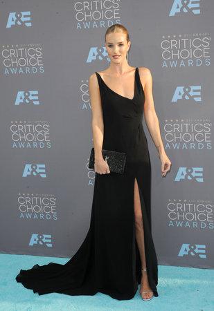 barker: Rosie Huntington-Whiteley at the 21st Annual Critics Choice Awards held at the Barker Hangar in Santa Monica, USA on January 17, 2016. Editorial