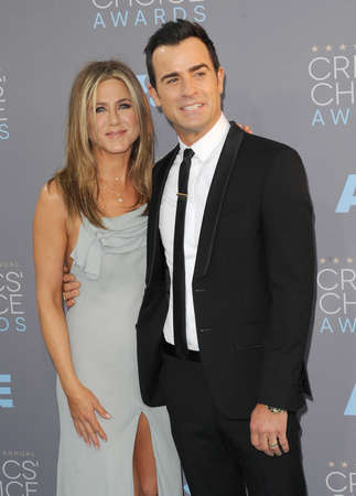 critics: Jennifer Aniston and Justin Theroux at the 21st Annual Critics Choice Awards held at the Barker Hangar in Santa Monica, USA on January 17, 2016.