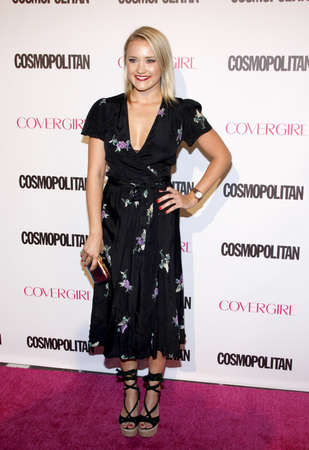 west hollywood: Emily Osment at the Cosmopolitans 50th Birthday Celebration held at the Ysabel in West Hollywood, USA on October 12, 2015. Editorial