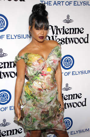 culver city: Christina Milian at the Art Of Elysiums 9th Annual Heaven Gala held at the 3LABS in Culver City, USA on January 9, 2016.