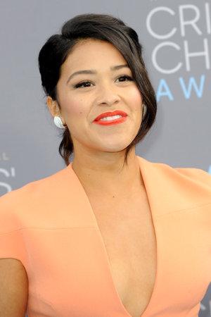 critics: Gina Rodriguez at the 21st Annual Critics Choice Awards held at the Barker Hangar in Santa Monica, USA on January 17, 2016.