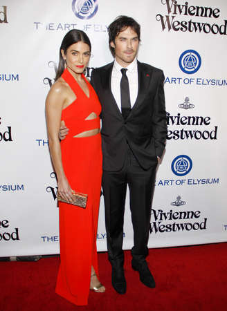 culver city: Ian Somerhalder and Nikki Reed at the Art Of Elysiums 9th Annual Heaven Gala held at the 3LABS in Culver City, USA on January 9, 2016. Editorial