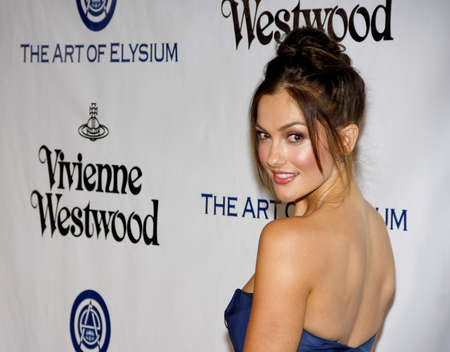 culver city: Minka Kelly at the Art Of Elysiums 9th Annual Heaven Gala held at the 3LABS in Culver City, USA on January 9, 2016.