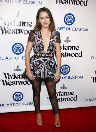Zelda Williams at the Art Of Elysiums 9th Annual Heaven Gala held at the 3LABS in Culver City, USA on January 9, 2016.