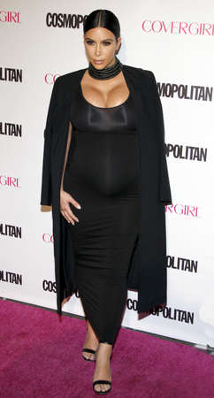 west hollywood: Kim Kardashian at the Cosmopolitans 50th Birthday Celebration held at the Ysabel in West Hollywood, USA on October 12, 2015.