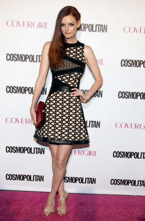 west hollywood: Lydia Hearst at the Cosmopolitans 50th Birthday Celebration held at the Ysabel in West Hollywood, USA on October 12, 2015.