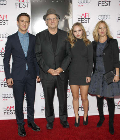 concussion: Albert Brooks at the AFI FEST 2015 Centerpiece Gala premiere of Concussion held at the TCL Chinese Theatre in Hollywood, USA on November 10, 2015. Editorial