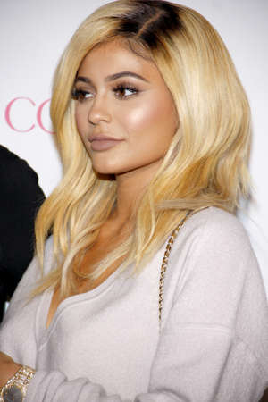 west hollywood: Kylie Jenner at the Cosmopolitans 50th Birthday Celebration held at the Ysabel in West Hollywood, USA on October 12, 2015. Editorial