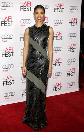 concussion: Gugu Mbatha-Raw at the AFI FEST 2015 Centerpiece Gala premiere of Concussion held at the TCL Chinese Theatre in Hollywood, USA on November 10, 2015.