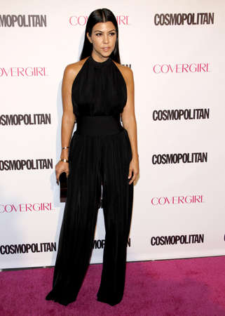west hollywood: Kourtney Kardashian at the Cosmopolitans 50th Birthday Celebration held at the Ysabel in West Hollywood, USA on October 12, 2015.