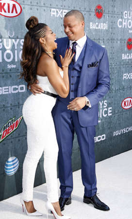 Terrence Howard and Taraji P. Henson at the 2015 Spike TVs Guys Choice Awards held at the Sony Pictures Studios in Culver City, USA on June 6, 2015.