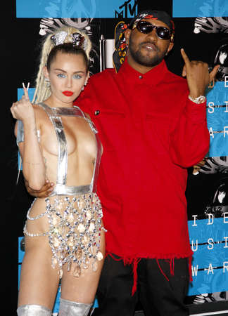cyrus: Miley Cyrus and Mike WiLL Made-It at the 2015 MTV Video Music Awards held at the Microsoft Theater in Los Angeles, USA on August 30, 2015.