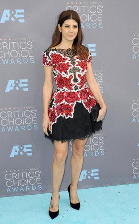 critics: Marisa Tomei at the 21st Annual Critics Choice Awards held at the Barker Hangar in Santa Monica, USA on January 17, 2016. Editorial