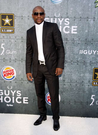 Floyd Mayweather Jr. at the 2015 Spike TVs Guys Choice Awards held at the Sony Pictures Studios in Culver City, USA on June 6, 2015.