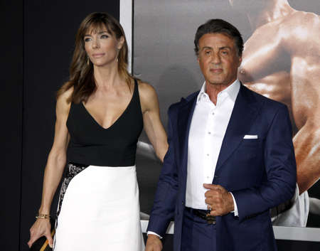 creed: Sylvester Stallone and Jennifer Flavin at the Los Angeles premiere of Creed held at the Regency Village Theatre in Westwood, USA on November 19, 2015.
