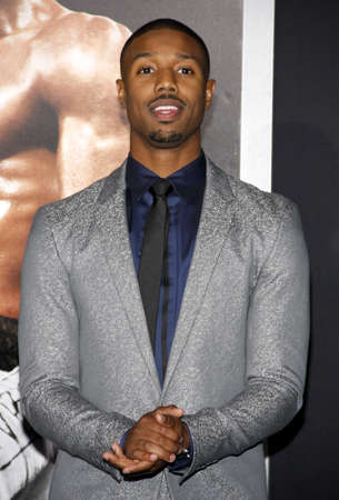 creed: Michael B. Jordan at the Los Angeles premiere of Creed held at the Regency Village Theatre in Westwood, USA on November 19, 2015.