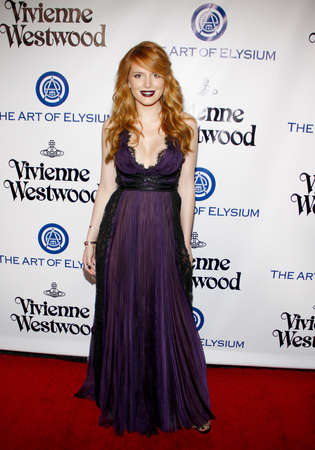 culver city: Bella Thorne at the Art Of Elysiums 9th Annual Heaven Gala held at the 3LABS in Culver City, USA on January 9, 2016.