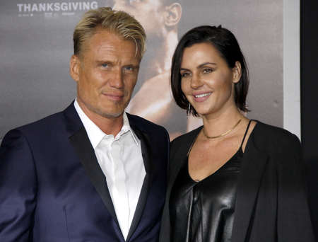 creed: Dolph Lundgren and Jenny Sandersson at the Los Angeles premiere of Creed held at the Regency Village Theatre in Westwood, USA on November 19, 2015. Editorial