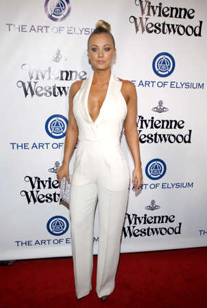 culver city: Kaley Cuoco at the Art Of Elysiums 9th Annual Heaven Gala held at the 3LABS in Culver City, USA on January 9, 2016.