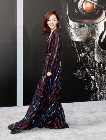 Jane Zhang at the Los Angeles premiere of Terminator Genisys held at the Dolby Theatre in Hollywood, USA on June 28, 2015.