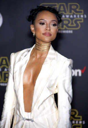 tran: Karrueche Tran at the World premiere of Star Wars: The Force Awakens held at the TCL Chinese Theatre in Hollywood, USA on December 14, 2015.