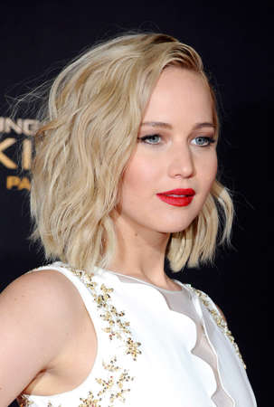 Jennifer Lawrence at the Los Angeles premiere of 'The Hunger Games: Mockingjay - Part 2' held at the Microsoft Theatre in Los Angeles, USA on November 16, 2015.