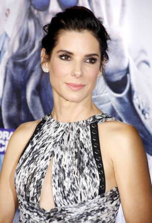 HOLLYWOOD, CA, USA - OCTOBER 26, 2015: Sandra Bullock at the Los Angeles premiere of 'Our Brand Is Crisis' held at the TCL Chinese Theatre in Hollywood. Redakční