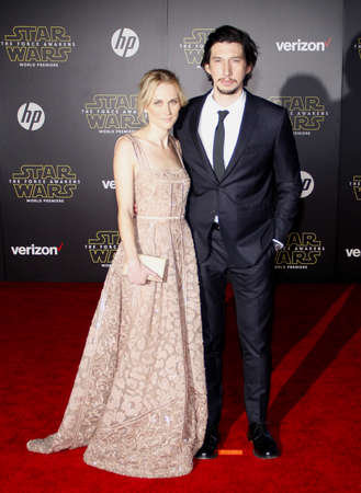 tucker: HOLLYWOOD, CA - Adam Driver and Joanne Tucker at the World premiere of Star Wars: The Force Awakens held at the TCL Chinese Theatre in Hollywood, USA on December 14, 2015.
