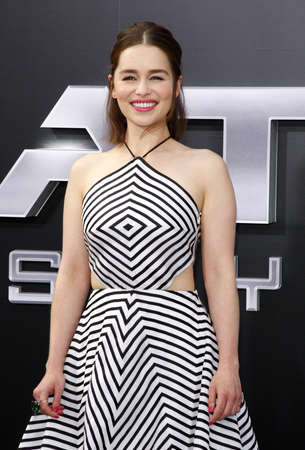 Emilia Clarke at the Los Angeles premiere of Terminator Genisys held at the Dolby Theatre in Hollywood, USA on June 28, 2015.