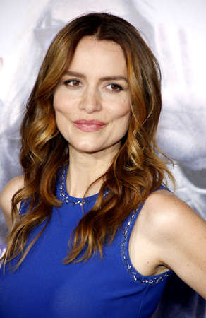 burrows: HOLLYWOOD, CA, USA - OCTOBER 26, 2015: Saffron Burrows at the Los Angeles premiere of Our Brand Is Crisis held at the TCL Chinese Theatre in Hollywood.