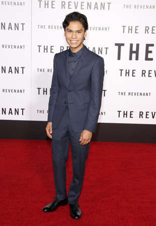 goodluck: Forrest Goodluck at the Los Angeles premiere of The Revenant held at the TCL Chinese Theatre in Hollywood, USA on December 16, 2015.