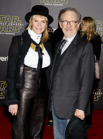 steven: HOLLYWOOD, CA - Steven Spielberg and Kate Capshaw at the World premiere of Star Wars: The Force Awakens held at the TCL Chinese Theatre in Hollywood, USA on December 14, 2015. Editorial