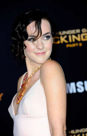 malone: Jena Malone at the Los Angeles premiere of The Hunger Games: Mockingjay - Part 2 held at the Microsoft Theatre in Los Angeles, USA on November 16, 2015.