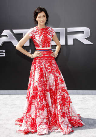 premieres: Sandrine Holt at the Los Angeles premiere of Terminator Genisys held at the Dolby Theatre in Hollywood, USA on June 28, 2015.