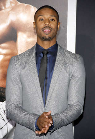 Michael B. Jordan at the Los Angeles premiere of Creed held at the Regency Village Theatre in Westwood, USA on November 19, 2015.